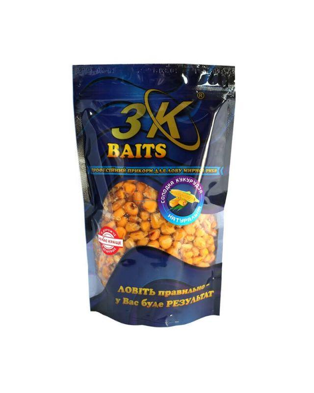 Прикормка 3K Baits кукуруза слад.(натурал)400g